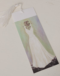 Bookmark printed on canvas with tassel - Lily dress