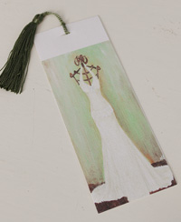 Bookmark printed on canvas with tassel - Ava