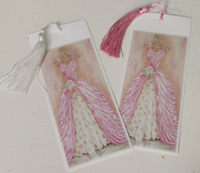 Bookmark printed on canvas with tassel - Monet