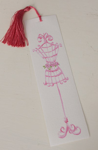 Bookmark printed on canvas with tassel - Mannequin