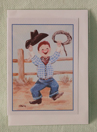 Greeting card - Cowboy