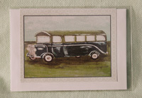 Greeting card - Vintage Bus