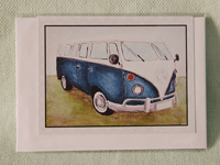 Greeting card - Blue Kombi Van