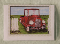 Greeting card - Red Vintage Car