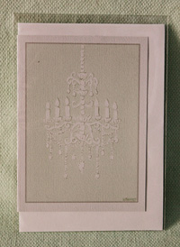 Greeting card - Aqua Chandelier