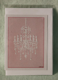 Greeting card - Pink Chandelier