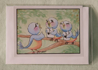 Greeting card - Singing Birds