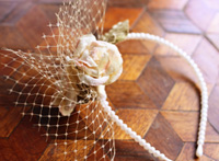 Rose Pearl Headband Hairpiece