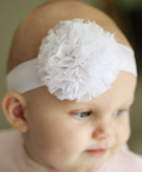 Eva baby headband on wide elastic