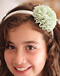Blossom sparkle flower on cream headband