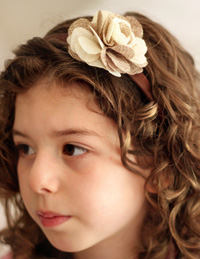 Isobel flower on brown headband