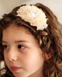 Madeline sparkle flower on brown headband