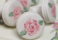 Hand painted drawer knobs (ridge on side) set of 3