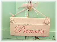 "OP010 Original Painting/Sign ""Princess"" on old architrave - Very French Chic"