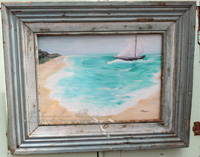 Sailboat on a Blue Lagoon Original Painting