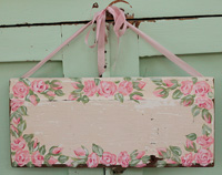 Rose sign painted on old architectural salvage CUSTOMISED FOR YOU