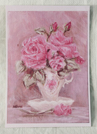 "Print 5x7"" - Teacup Roses Pink"