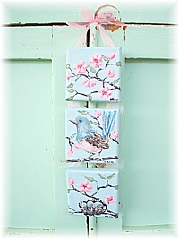 SP013 Special Order for Jen - Original Paintings Hanging Wren Trio
