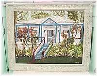 SP015 Special order for Wendy - Painting of Wendy's House in beautiful Antique Ornate frame