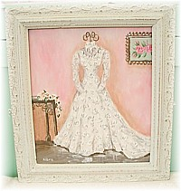SP016 Special Order for Wendy - Wedding Gown in Stunning Antique Frame