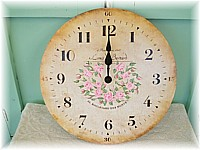 HP046 Hand Painted Rosy Clock - Large size