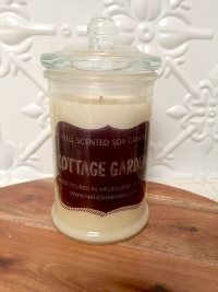 Single Large Glass Jar black label range - Pure Soy Candle - you choose scent