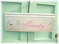 SP004 Special order for Wendy, original painting/sign 'SERENITY'