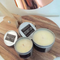 Set of 3 Small tins - Pure Soy Candles - you choose scents